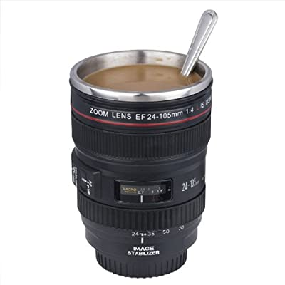 Taza de la lente de cámara / lente taza de café (taza diseño creativo es la simulación para el Canon EF 24-105mm / 1:1 Copa del Café Modelo / INTERIOR DE ACERO INOXIDABLE)