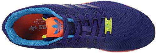 adidas Originals ZX FLUX Lila Orange Unisex Sneakers Schuhe Torsion System Neu Violett (Collegiate Purple/Solar Red)