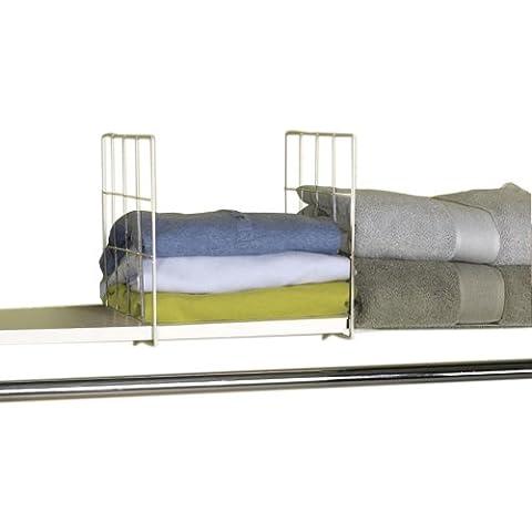 Household Essentials–Home Hotel Interior Y Exterior Housekeeping lavandería Ropa Almacenamiento accesorios Juego de 2separadores de