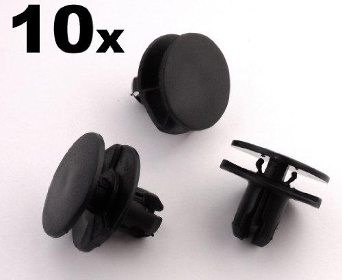 10x Befestigung Clips / Klips - Um ein 8mm Loch Fit - Radlauf Futter Clips, Spritzschutz Clips, Innere Fender Clips (91501-TR0-003) (Honda Spritzschutz)