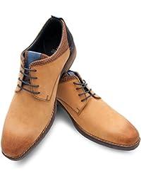 Zerimar Zapato de Piel para Hombre Zapato con Cordones Calzado Hombre Vestir