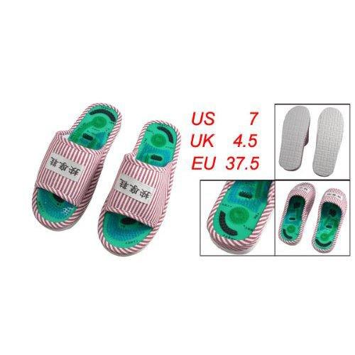 onlinegrocerystore-tm-fk-5-x-mesdames-raye-sante-soins-pied-acupoint-pantoufles-de-massage-a-plat-en