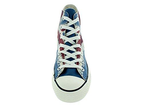Converse Chuck Taylor Hi (Unisex) Fashion (10.5 D(M) US Men/12.5 B(M) US Women) Atlantic/Chili Paste/Egret