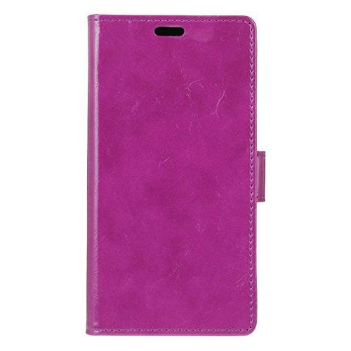 Samsung Galaxy A3 2017 Ledertasche, farbenfroh verrückt Pferd Textur horizontal Flip Stand Case mit Wallet TPU Cover für Samsung Galaxy A3 2017 ( Color : Black , Size : A3 2017 ) Purple
