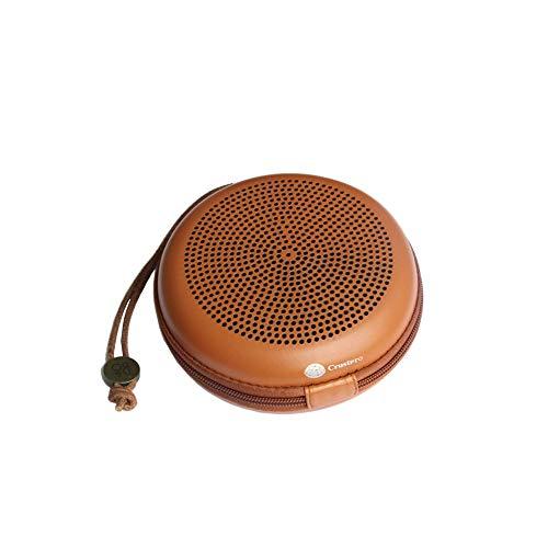Cikuso Ebsc064 Pu Eva Koffer für B und O Bang und O-Lufsen Beoplay BO A1 Tragbarer Bluetooth Lautsprecher Tragbarer Reise Trage Tasche Halter Rei?Verschluss Etui Braun