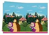 tovaglia masha e orso, 1 tovaglia mascha e orso ,tovaglia di masha e orso,festa di masha e orso