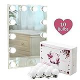 Limerence Spiegelleuchte, Spiegellampe, Schminklicht, Spiegellicht, Make-up Licht, schmink lampe, schminkleuchte für spiegel, mit 10 dimmbaren LED-Glühbirnen für Badezimmerspiegel, Schminktisch