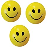 E JINIE Online Smiley Face Stress Reliever Squeeze Balls (Set Of 3)