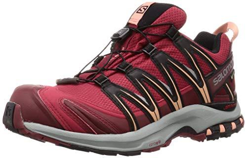 SALOMON XA PRO 3D GTX W, Scarpe da Trail Running Donna, Rosso (Deep Claret/Syrah/Coral Almond), 36 EU