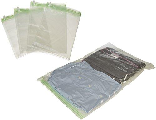 AmazonBasics - Sacchetti salvaspazio di compressione da viaggio da arrotolare (non per sottovuoto), 8 pezzi