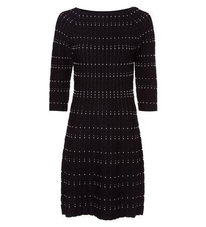 zero Damen Kleid mit Strickmustern 313880 black 42