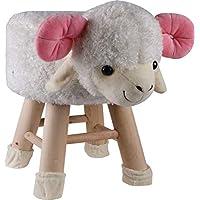 Hampton & Stewart Kids Novelty Animal Shaped Footstool Foot Stool Round Home Furniture