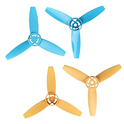 i.VALUX Main 3-Blades Propeller Rotor Props Replacement for Parrot Bebop Drone 3.0 RC Quadcopter, Yellow and Blue by Happrint