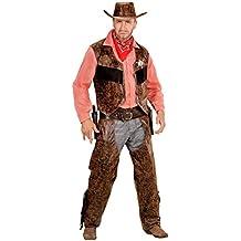 Widmann 05923adulto camiseta disfraz de vaquero con chaleco, chaparreras y sombrero