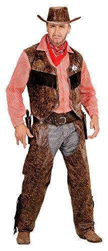 senenkostüm Cowboy, Shirt mit Weste, Chaps und Hut (Shirt Cowboy Kostüm)