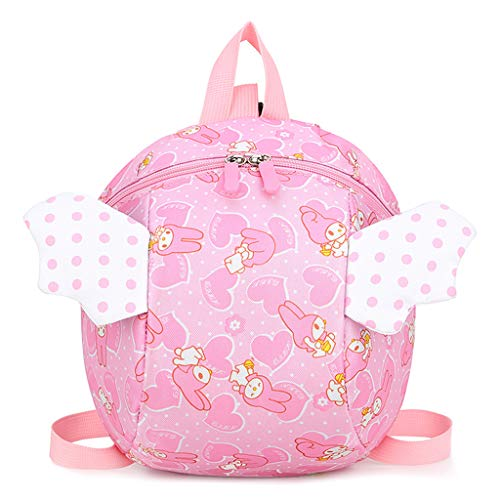LIskybird Sicherheitsgurt Rucksack Kids Anti-verlorene Cartoon Angel Wings Schultasche für Infant Baby Toddler (Angel Wing Rucksack)