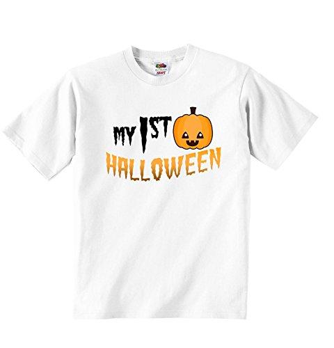 –Jungen Mädchen T-Shirt Personalisierte Tees Unisex Jungen Mädchen Tshirt Kleidung mit bedruckt Funny Quotes–Weiß weiß weiß 5 - 6 Years (Personalisierte Halloween-t-shirts)