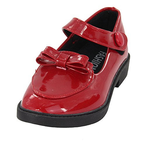 maxu Nœud Papillon Décorations princesse brevet Chaussures Performance en Cuir red