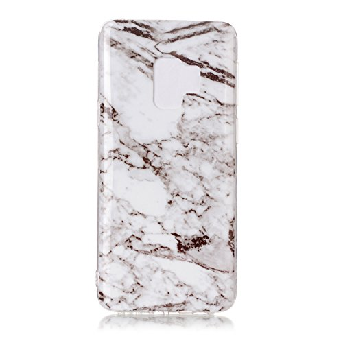 inShang Samsung Galaxy S9 custodia cover del cellulare, Anti Slip, ultra sottile e leggero, custodia morbido realizzata in materiale del TPU, frosted shell , conveniente cell phone case per Galaxy S9, White marble