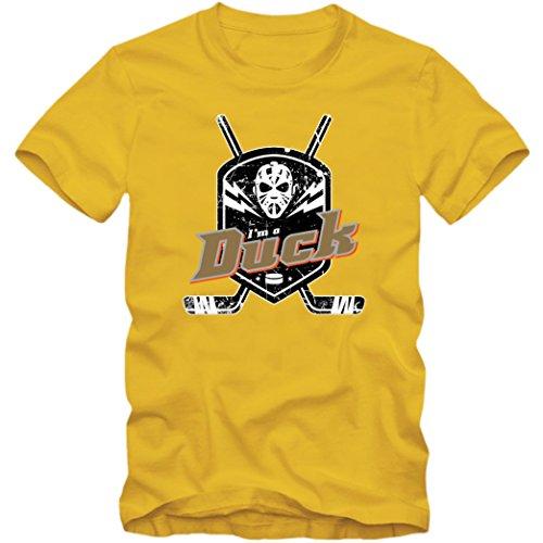 I'm a Duck #1 T-Shirt |Herren | Eishockey | Play Offs | Fanshirt, Farbe:Gelb (Gold L190);Größe:XXL -