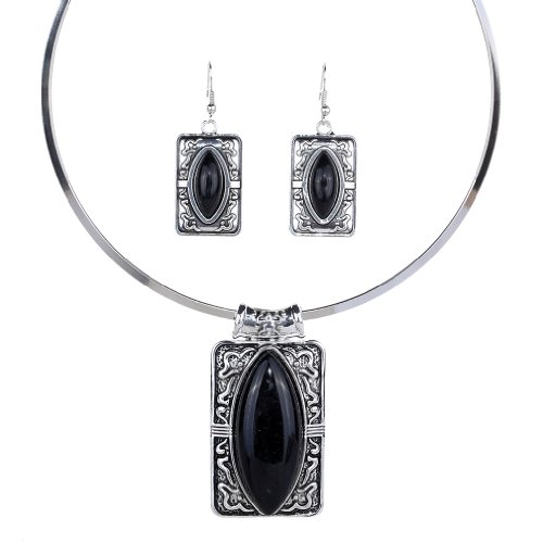 yazilind-tibetan-silver-ethnic-marquise-black-turquoise-pendant-statement-bib-necklace-earrings-jewe