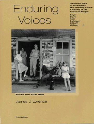 Enduring Voices: Vol 2 by Lorence (1995-10-15)