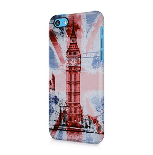 iPhone 5C SnapOn Hard Plastic Phone Protective Fall Handyhülle Case Cover (Iphone 5c-london Fall)