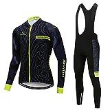 JOGVELO Fahrradbekleidung Set, Radfahren Kleidung Set Thermische Fleece für Herren MTB Fahrrad Bekleidung, XL