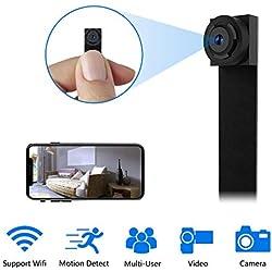 Caméra Espion WiFi Mini Caméra Cachée 1080P HD Caméscope sans Fil Portable Enregistreur Vidéo Caméras IP avec Caméra de Sécurité à Détection de Mouvement(2.4G Uniquement)