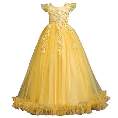 Northead Mädchen Prinzessin Kleid Klavier Host Leistung Kostüm für Hochzeitsfeier (Kinder Klavier Kostüm)