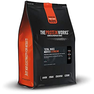 The Protein Works Total Mass Matrix Extreme Weight Gainer Powder Shake, High Calorie, High Protein with Creatine and Glutamine