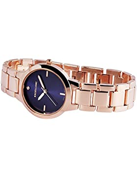 Rotgolduhr Ladywatch rose`blue