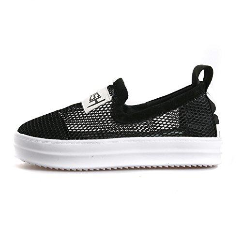 Adee pour femme en cuir Chaussures Pompes en cuir Noir - noir