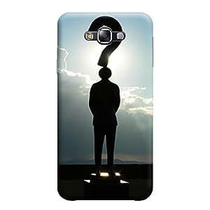 Desicase Samsung E5 Who I am 3D Matte Finishing Printed Designer Hard Back Case Cover (Black)