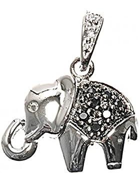 Sterlingsilber Anhänger mit Zirkonia - Elefant