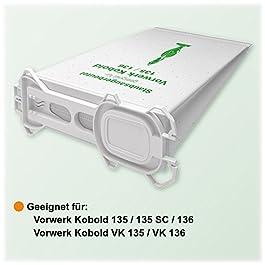 18 Sacchetti in tessuto non tessuto per aspirapolvere Vorwerk Kobold 135/136/135SC/VK135/VK 136