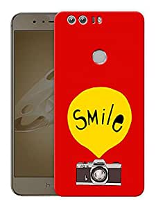 "Humor Gang Smile On CameraPrinted Designer Mobile Back Cover For ""Huawei Honor 8"" (3D, Matte Finish, Premium Quality, Protective Snap On Slim Hard Phone Case, Multi Color)"