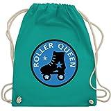 Vintage - Roller Queen Rollschuh - Unisize - Türkis - WM110 - Turnbeutel & Gym Bag