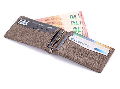 a0a209cb41 flintronic ® Porta Carte di Credito, Portafoglio Sottile Uomo i Clip in  Pelle RFID/
