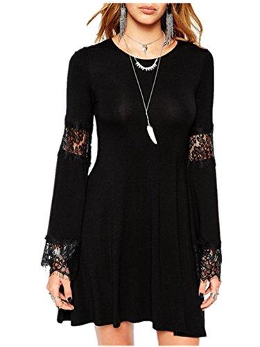 Ecolleciton® Damen Lace Victorian Gothic Renaissance Korsett Kleider Bluse Women's Nightclubs Blouse Clubwear Dress (Tag XL EU 40)