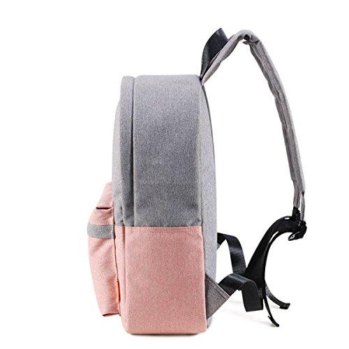 BAAFG Damen Rucksack Mode Student Tasche Leinwand Rucksack Pink
