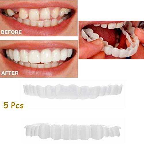 5 stücke oberen zähne + unteren zähne set instant perfect comfort fit flex kosmetische zähne prothesenzähne bleichen lächeln gefälschte zähne