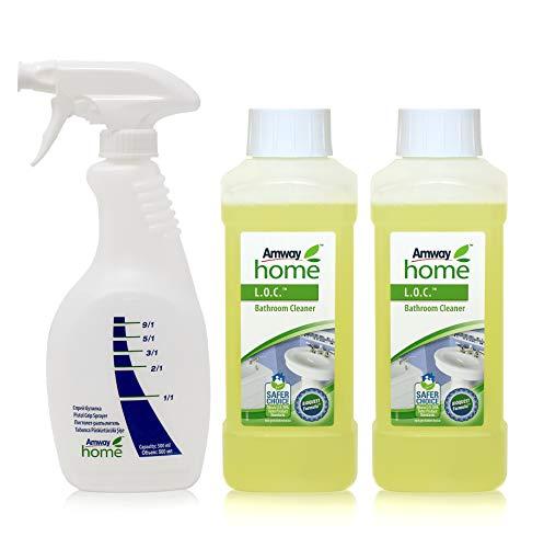 2 x Badreiniger L.O.C.TM - Bathroom Cleaner - 2 x 500 ml (1 Liter) + 1 x Sprühflasche mit Dosiergriff AMWAY HOMETM