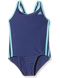 adidas I 3S 1Pc Y - Bañador para niña, color morado / azul, talla 128