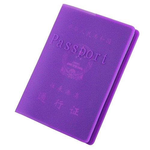 Pu Ran® - Funda de pasaporte , morado (morado) - 89XU15204909XIA5434