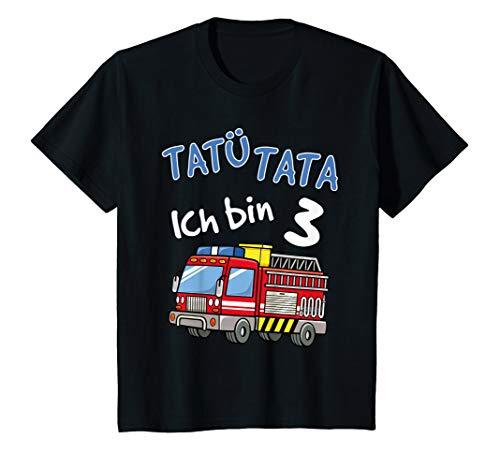 Kinder T-Shirt 3. Geburtstag Jungen Feuerwehrauto 3 Jahre Shirt