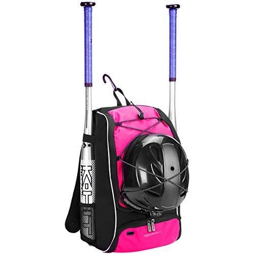 AmazonBasics - Rucksack für Baseball-Ausrüstung für Jugendliche, Pink (Tragen Baseball)
