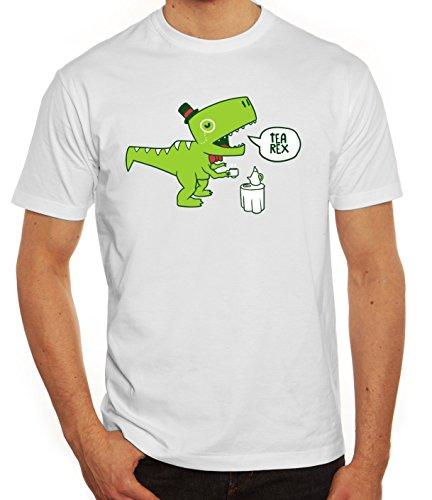 Lustiges Herren T-Shirt mit TeaRex Motiv von ShirtStreet Weiß