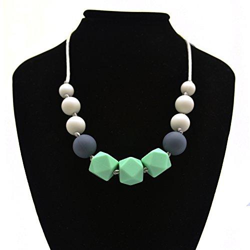 Preisvergleich Produktbild Happy-Dolle Baby Teething Necklace,Silicone Teething Beads,100% BPA-Free