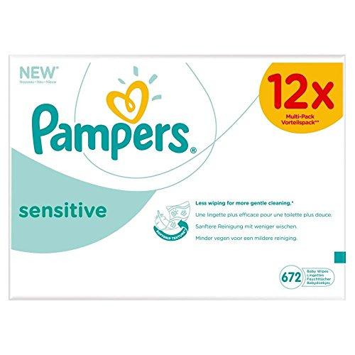 Lingettes Pampers Sensibles Des Bébés (56 Par Paquet X 12)